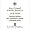 Esquela de Fallecimiento de JOSEP MANUEL CORRALES RECASENS