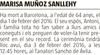 Esquela de Fallecimiento de MARISA MUÑOZ SANLLEHY