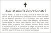 Esquela de Fallecimiento de JOSÉ MANUEL GÓMEZ SABATEL