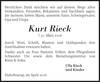 Kurt Rieck