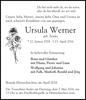 Ursula Werner geb. Zemke