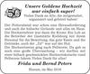 Goldene super Frida und Bernd Peters