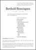 Berthold Henningsen