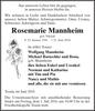 Rosemarie Mannheim
