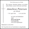 Anneliese Petersen