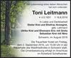 Toni Leitmann