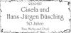 Gisela undHans-Jürgen Büsching