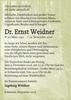 Dr. Ernst Weidner