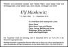Ulf Markowitz