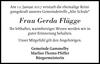 Frau Gerda Flügge