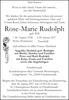 Rose-Marie Rudolph geb. Will