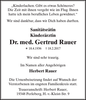 Dr. med. Gertrud Rauer