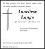Anneliese Lange