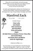 Manfred Zack